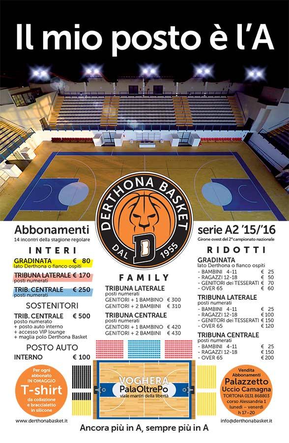 Campagna Abbonamenti - Derthona Basket 2015/2016
