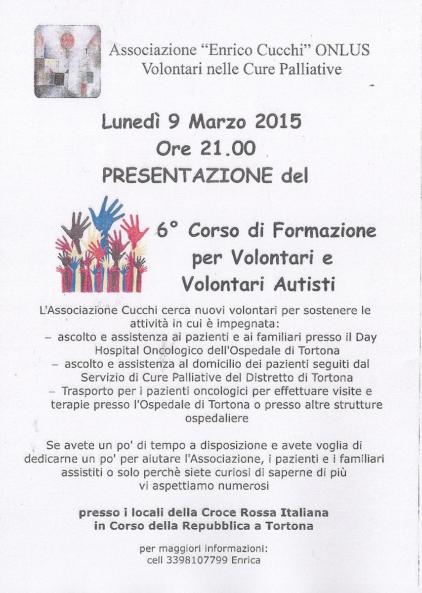 Corso di formazione volontari - Associazione Cucchi
