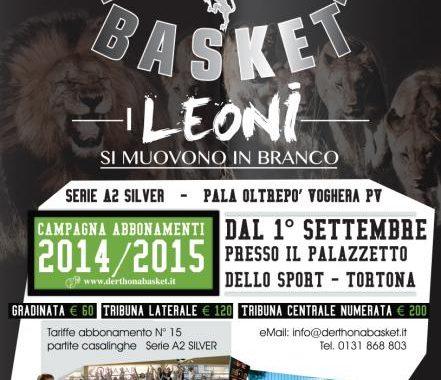 Derthona Basket - Campagna Abbonamenti 2014/2015