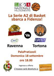 Volantino Ravenna-Tortona Terzo Tempo con stemma