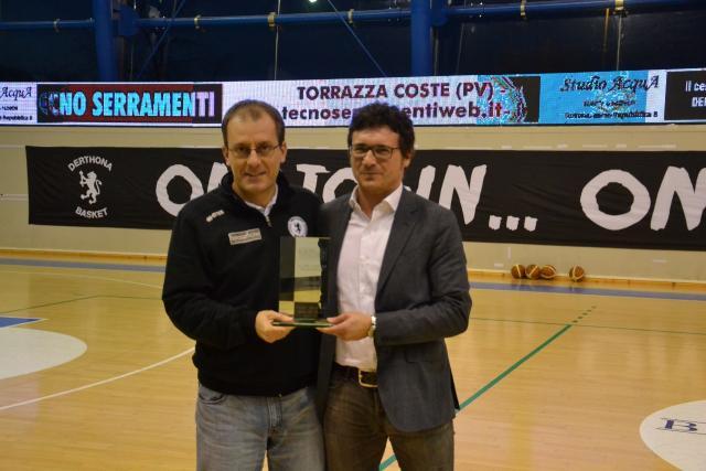 Premiazione Cavina - Derthona Basket