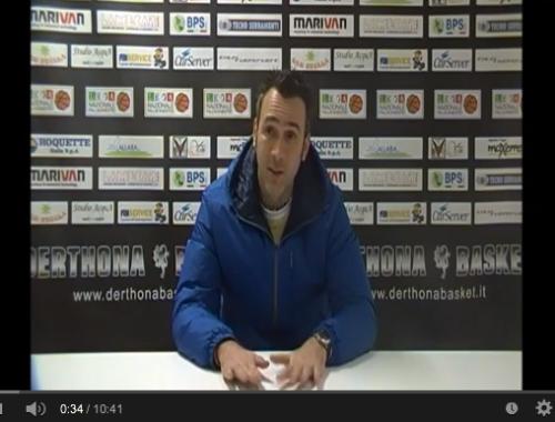Marco Picchi - Conferenza Stampa Derthona Basket - Omegna