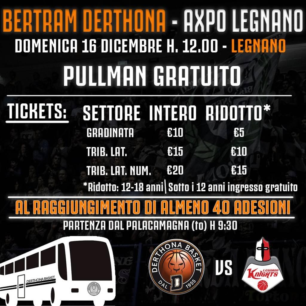 A Legnano Con Il Derthona Pullman Gratuito Per I Tifosi E Per Il