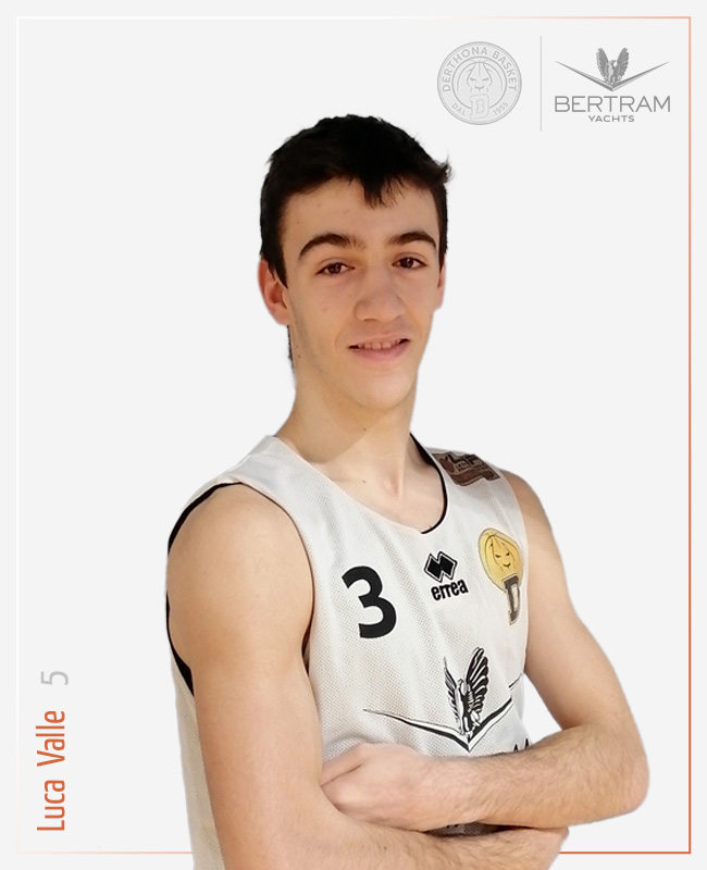 5 Luca Valle, guardia, Derthona Basket