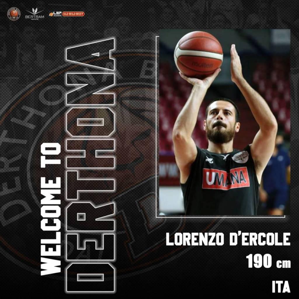 Derthona Basket, ufficiale l'ingaggio di Lorenzo D'Ercole